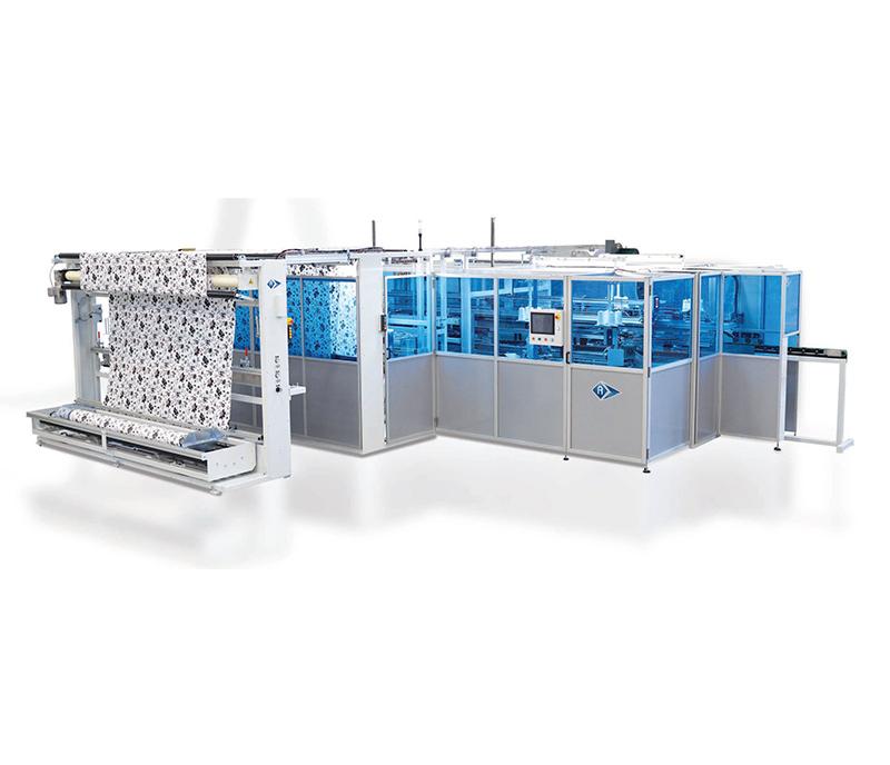 Automatic W/L and L/L Corner Sewing Fitted Box Sheet Unit - BDC-4725
