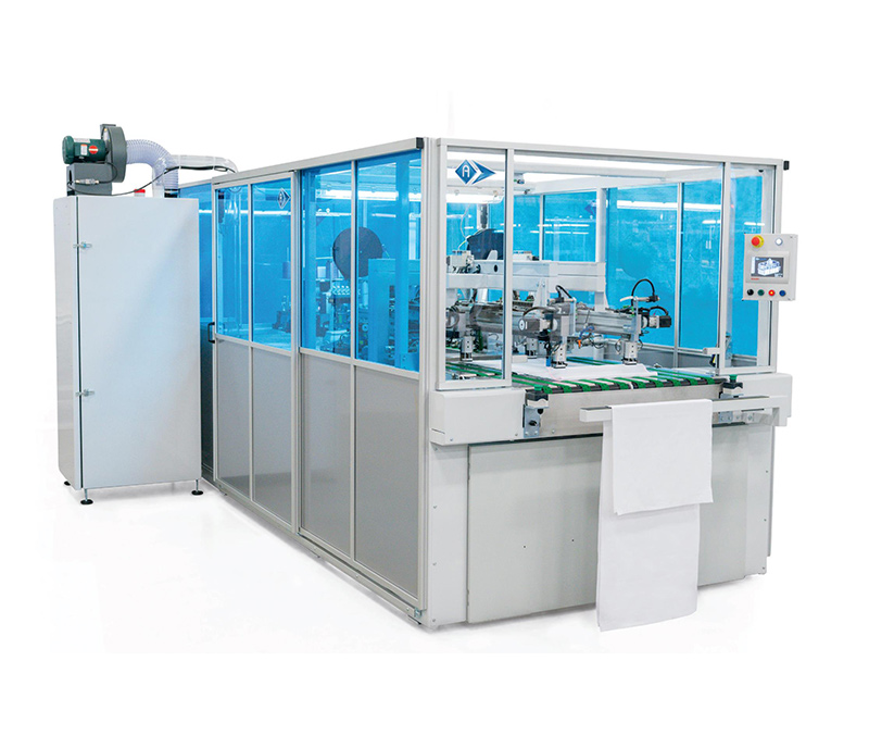 Pillow Case Side Closing Unit with Loading and Flap Preparation System - SA-330-FCT-MA